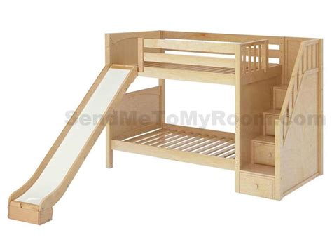 bunk beds and more stellar medium bunk bed with slide and staircase bunk