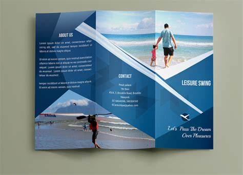 free business card brochure templates travel brochures 18 psd ai vector eps format