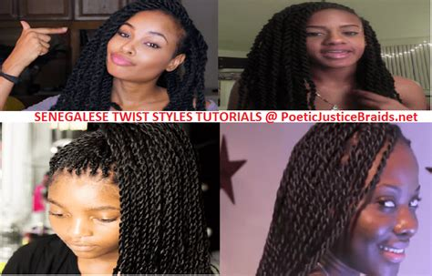 poetic justice braids step by step senegalese twist styles how to video tutorials styling