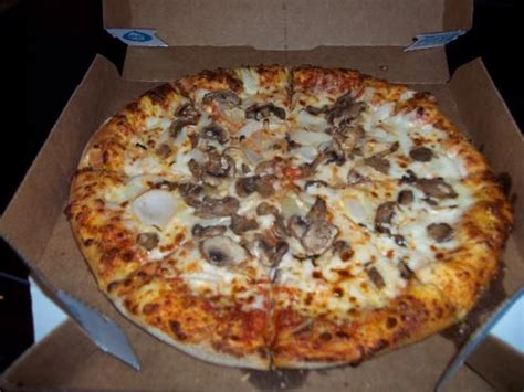 domino pizza medium size medium mushroom and onion pizza for 5 99 carry out