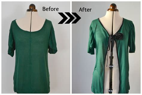how to make a sweater sweater into new cardigan diy