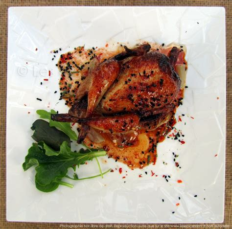 cuisiner les cailles cailles r 244 ties au four marinade au miel 233 pices tandoori