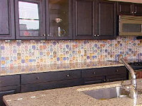how to make a backsplash in your kitchen how to create a colorful laminate backsplash hgtv
