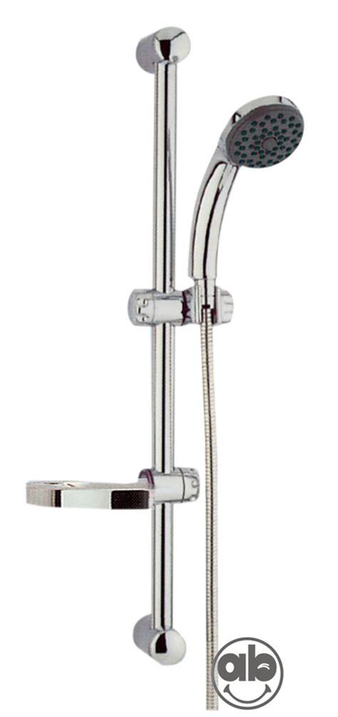sali e scendi per doccia saliscendi doccia con portasapone e doccetta 3 getti h60