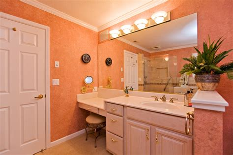 bathroom makeup pink master bathroom short wall for toilet privacy