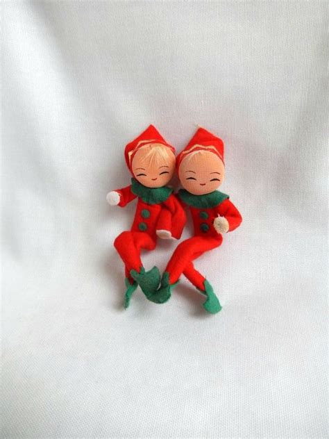 vintage pixies elves made in japan christmas decor 2