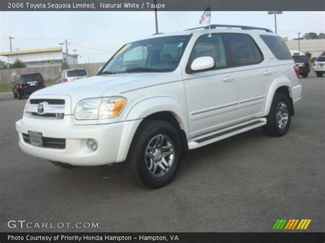 2006 Toyota Sequoia Limited White 2006 Toyota Sequoia Limited Taupe