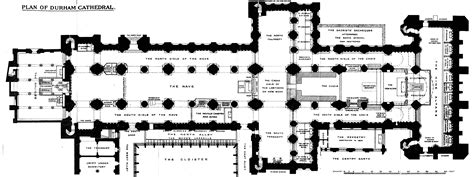 floor plan of cathedral medieval durham cathedral plans and drawings