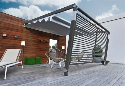sliding pergola cover aluminium pergola with sliding cover pergotenda 174 move by corradi