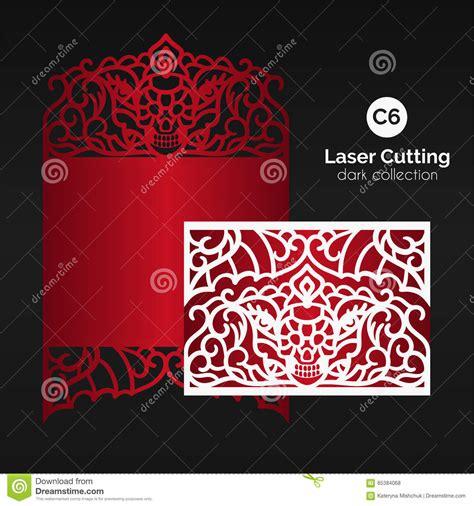 Laser Cutting With Skull Enverlope For Die Cut Template Vector Illustration Cartoondealer Laser Cut Skull Template