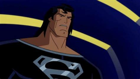 Adventure Black Moving Blue looking back at the animated adventures of superman den