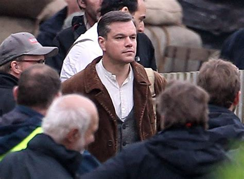 Matt George Up On by George Clooney And Matt Damon In The Countryside