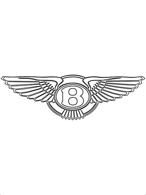 Bentley logo coloring page | Coloring pages