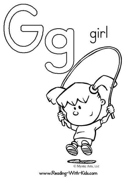 free letter g activities coloring pages