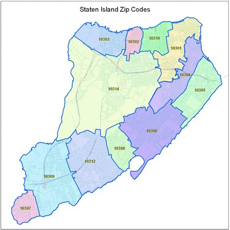 staten island map staten island zip code map jorgeroblesforcongress