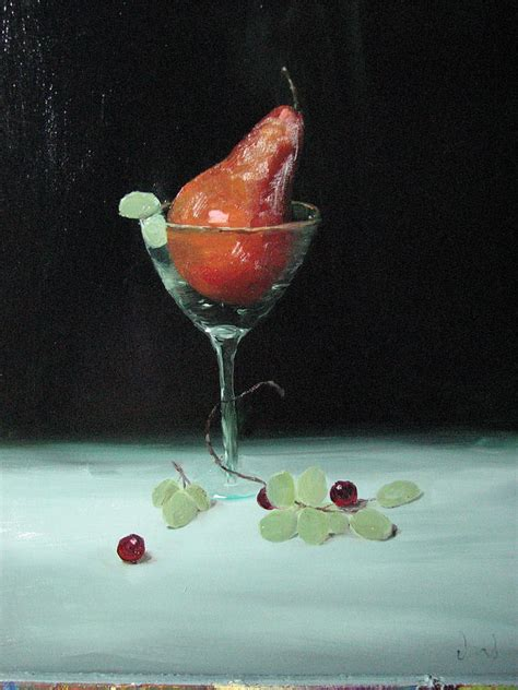 martini glass painting pear in martini glass painting by iris nazario dziadul