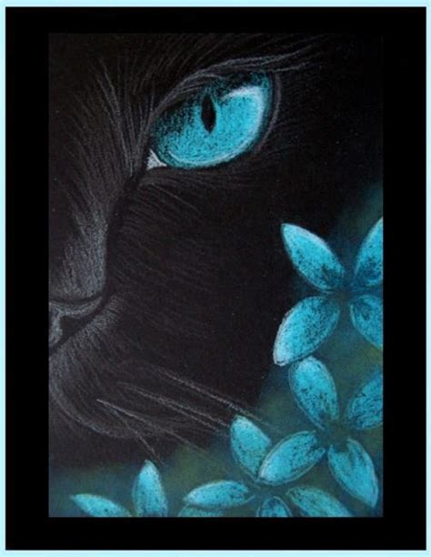 black cat painting designs black cat aqua flowers 4 by cyra r cancel from gallery
