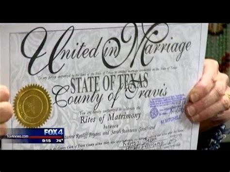 Marriage Records Dallas Tx Lawmakers Hear Bill Banning Marriage Licenses