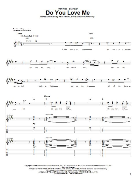 love theme from kiss bass tab do you love me by kiss guitar tab guitar instructor