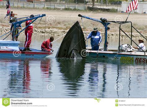 boat crash dream ihba hydroplane boat crash rescue editorial photo