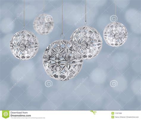 silver christmas balls royalty  stock  image