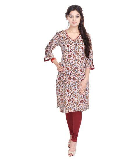 geroo white printed cotton v geroo white printed cotton v neck kurti price in india buy geroo white printed cotton v neck