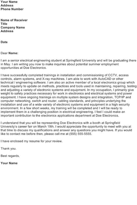 application letter electrical engineer