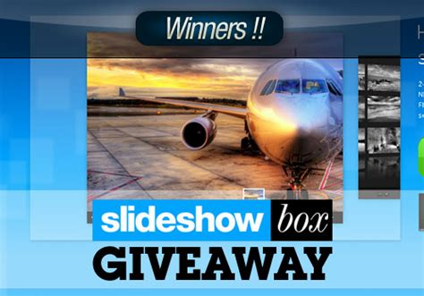 License Giveaway - slideshow box premium html license giveaway winners instantshift