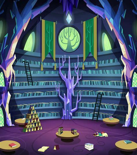mlp twilights castle twilight s castle library background by epiccartoonsfan on