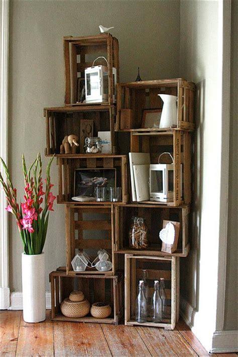 crates for shelves 14 diy wooden crate furniture design ideas pallet