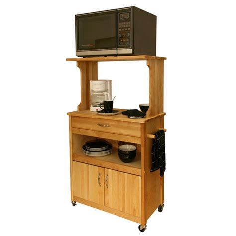 kitchen islands microwave cart w open shelving nickel