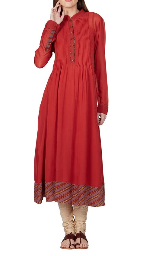 design house kurta online buy indian designer red anarkali long kurta by ritu kumar online
