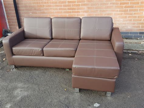 used leather corner sofa brand new brown leather corner sofa can deliver sandwell