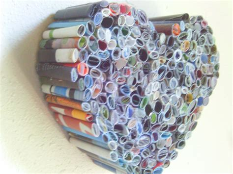 Paper Recycling Crafts - recycled magazine sculpture gt this could also be