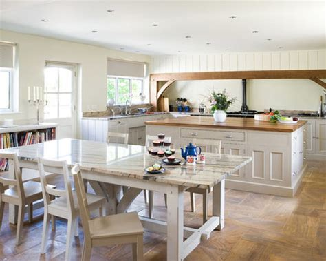 White Kitchen Island Granite Top by Country Style Kitchen Houzz