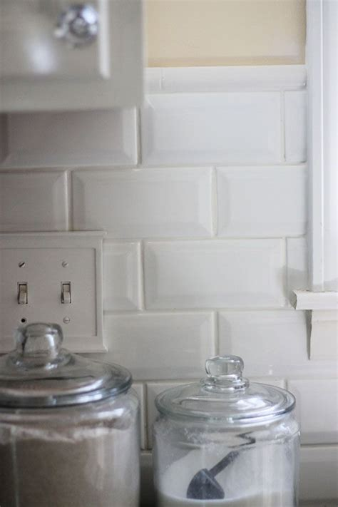 bevel tile backsplash quarter border white tile 1 8
