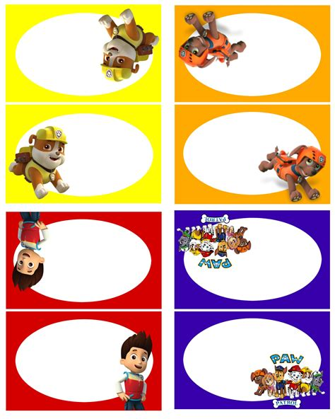 paw food paw patrol free birthday printables delicate construction