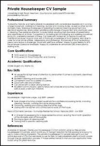 housekeeping summary housekeeping resume summary resume