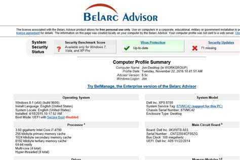 belarc advisor v8 6 review a free system info tool