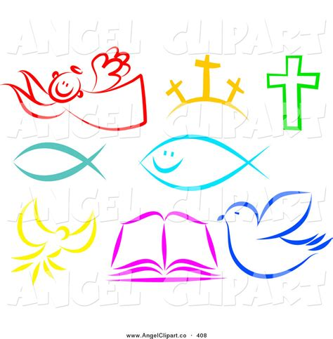 free christian clipart clip of a digital set of colorful christian items by