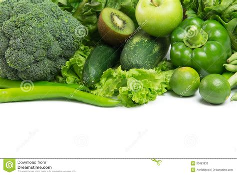 green vegetables and fruit stock photo image of