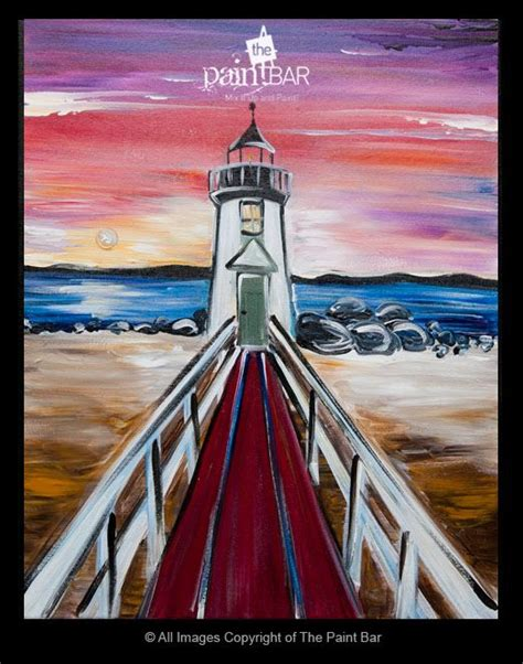 paint nite nantucket nantucket lighthouse painting jackie schon the paint