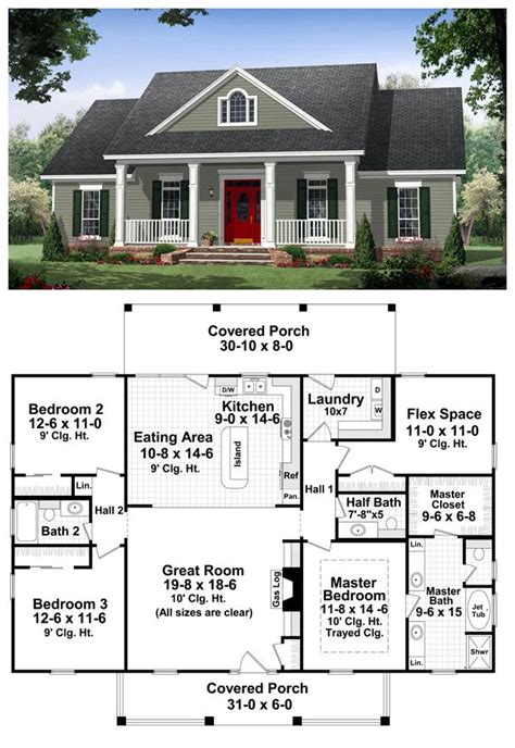 Colonial Country Traditional House Plan 59952 A Well House Floor Plans With Large Master Bedroom