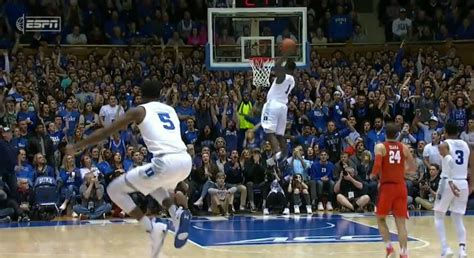 video zion williamson nasty 360 dunk against clemson