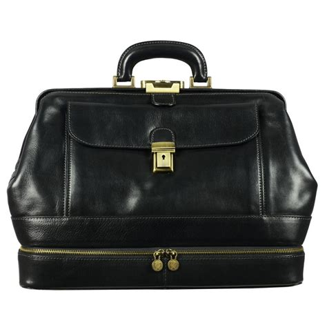 Doctor Bag black genuine leather doctor bag the master and margarita