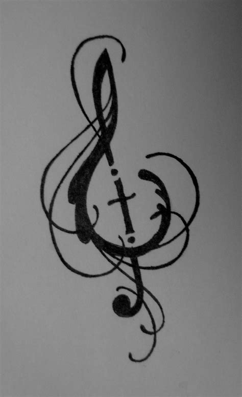cross and music note tattoo tattoos on rascal flatts and