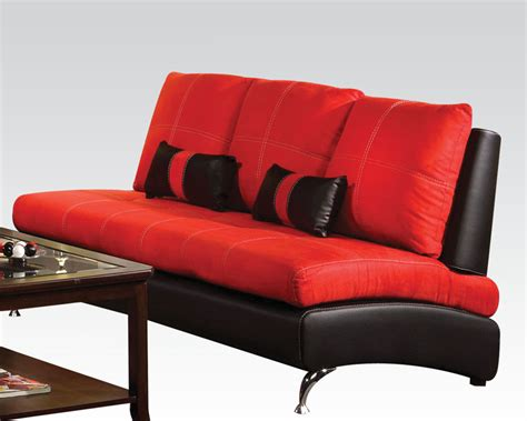 contemporary red sofa contemporary sofa jolie red by acme furniture ac51745