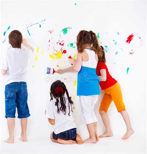 children es wall karten painting wall stock image image of paint