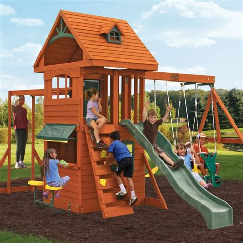 wooden swing sets free shipping 1000 ideas about outdoor playset on pinterest wooden