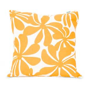Decorative Pillows Home Goods by Shop Majestic Home Goods Yellow Plantation Floral Square
